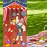 carnival backdrop soft Fabric Carnival Photo Door Banner Backdrop for carnival Game carnival party Decorations and…