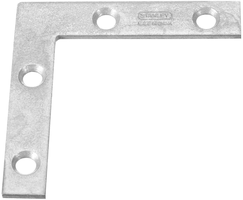 Stanley Hardware 75 6635 2 Inch Galvanized Flat Corner Braces Pack of 2