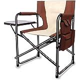 AGOOL アウトドアチェア 折りたたみチェア サイドテーブル付き椅子 ディレクターチェア 一体型 アウトドア椅子 お釣り キャンプ BBQ 運動会 スポーツ観戦 オフィス会議用