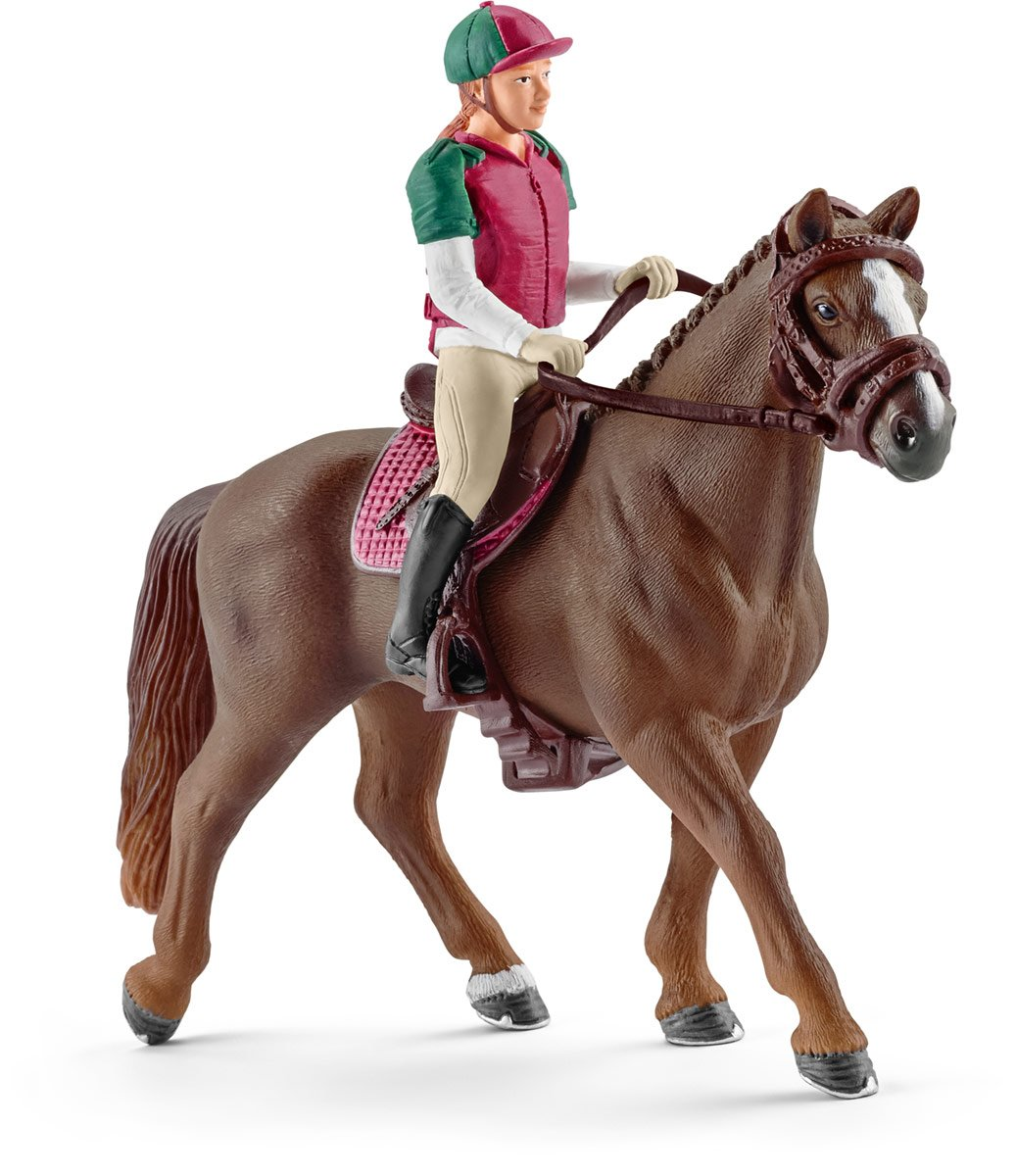 SCHLEICH Horse Club Eventing Rider and Horse Toy Figurine Set for Children Ages 5-12
