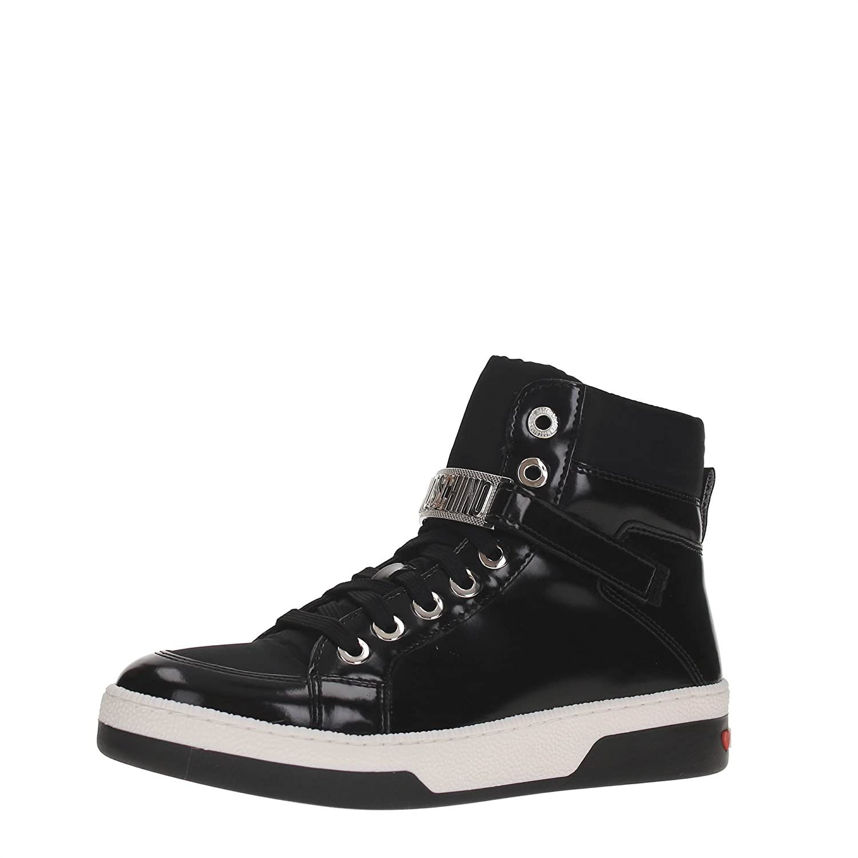 7f76384e73a8 Love Moschino Logo Hi Top Trainers Black 6 UK  Amazon.co.uk  Shoes   Bags