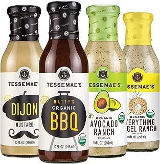 product image for Tessemae's Keto Starter Variety Pack - Dijon Mustard, Organic Everything Bagel Ranch, Organic Avocado Ranch, Matty's Organic BBQ - 10 fl oz. bottles (4-Pack)