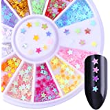 BORN PRETTY Colorful Star Nail Flakies Paillette DIY Nail Art Glitter Sequins Flakes