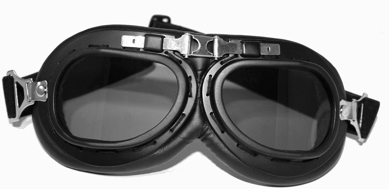 ATO Casco vintage con gafas tama/ño XS hasta XL color blanco y negro
