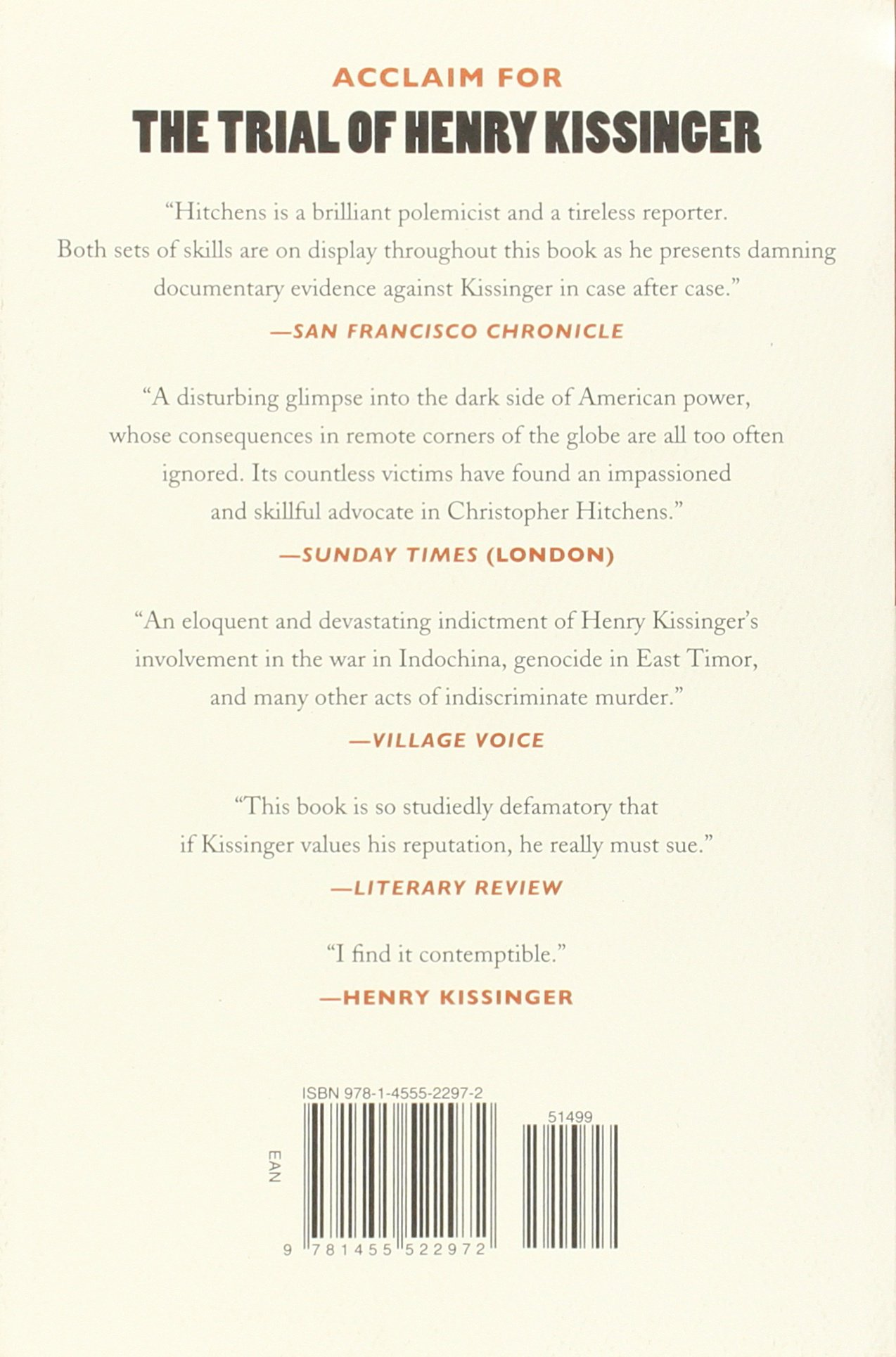 The Trial of Henry Kissinger: Amazon.de: Christopher Hitchens, Ariel ...
