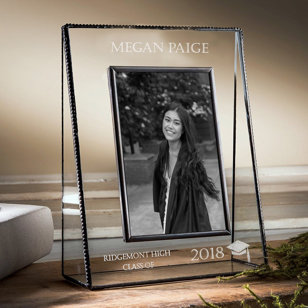 J Devlin PIc 319-57V EP500 Personalized Graduation Picture Frame For High School or College Graduate Gift Class of 2018 5x7 Vertical Photo Frame
