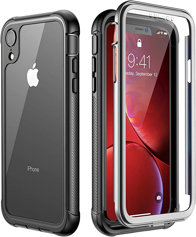 ATOP iPhone Xr case, Full-Body Protection Rugged Clear Bumper Case with Built-in Screen Protector,Heavy Duty Dropproof Shockproof Case for iPhone Xr ...