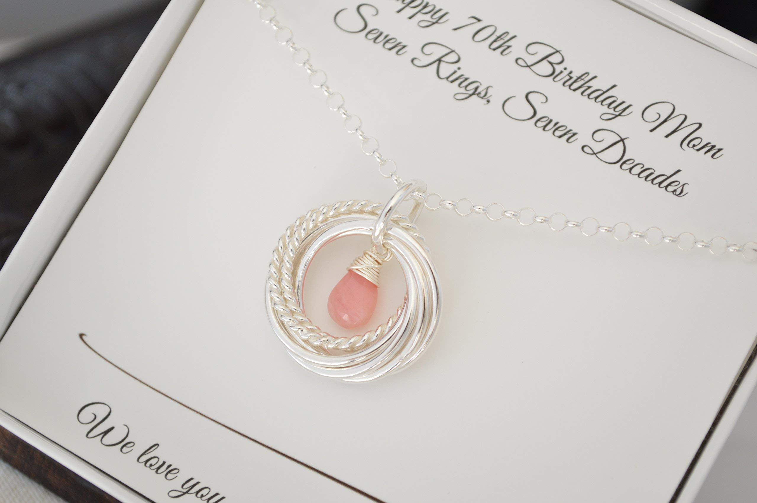 70th Birthday Gift For Grandmother Mother Necklace Jewelry Women