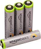 AmazonBasics High Capacity AAA Pre-Charged Rechargeable Batteries 800 mAh [Pack of 4]