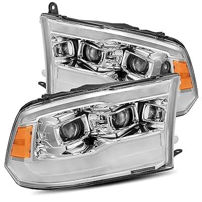 AlphaRex Chrome PRO-Series Base Model Projector Headlights fits 2009-2020 Dodge Ram 1500/2010-2020 Ram Truck 2500/3500: Automotive