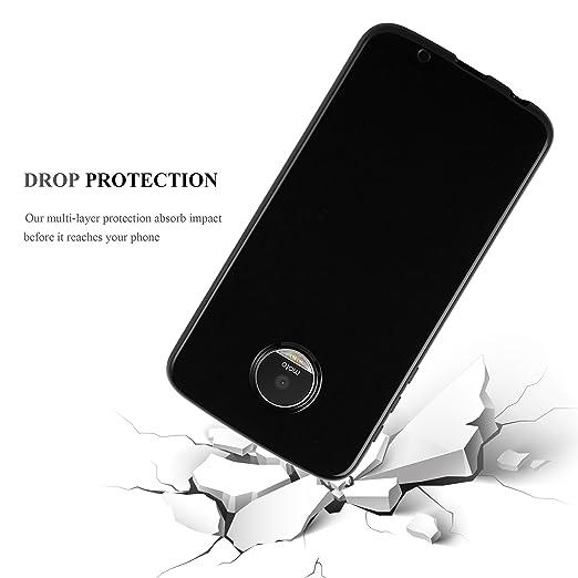 Cadorabo Funda para Motorola Moto Z Play en Negro: Amazon.es: Electrónica