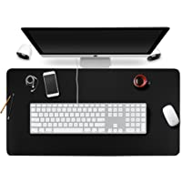 BUBM Desk Pad Protecter with Comfortable Writing Surface (Black)