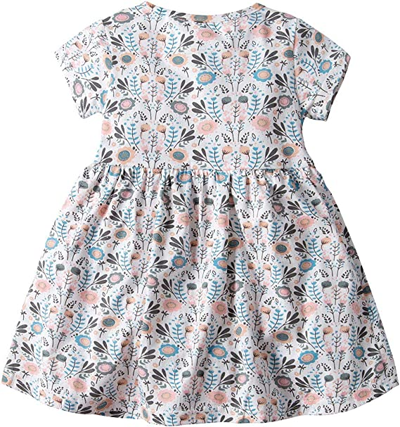 Vestido Ni/ña Ropa Beb/é Vestidos Mameluco Manga Corta Mono Princesa Verano Flor Impreso Body Traje
