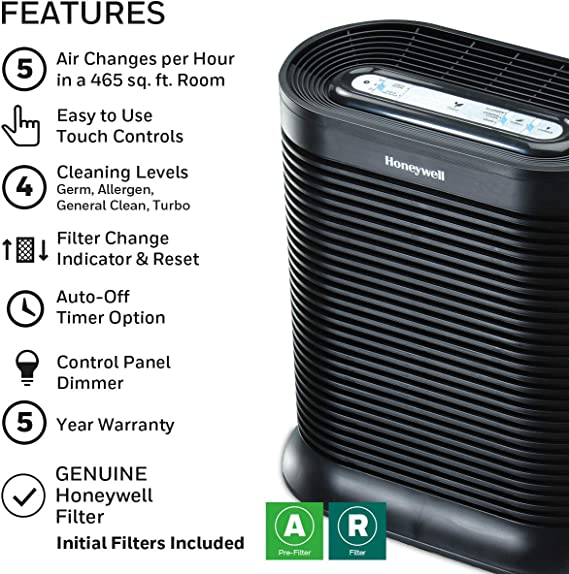 Honeywell True HEPA Allergen Remover, 465 Sq Ft, HPA300 by Kaz ...