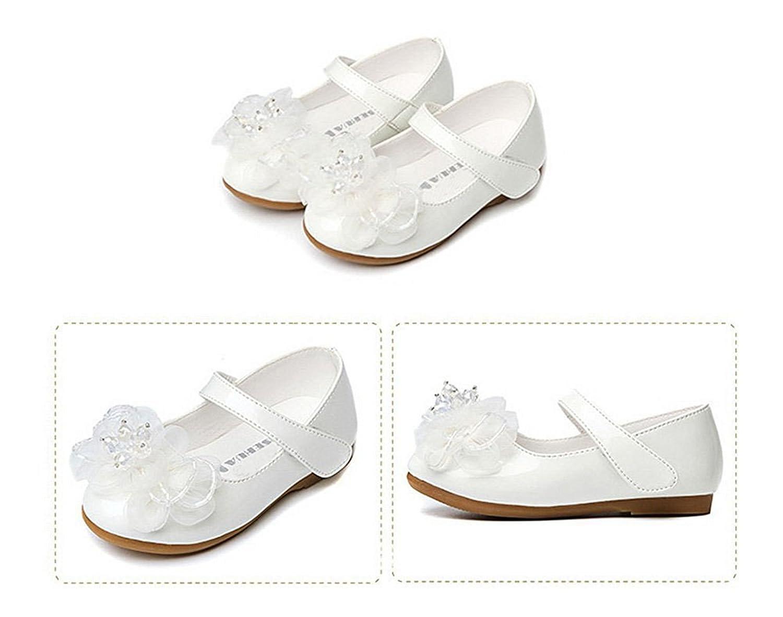 d77c7866600 Baby-QQ Hardwearing Kids Girls Wedding Shoes Ballet Flats with Flower( Toddler Little Kid)  Amazon.ca  Shoes   Handbags