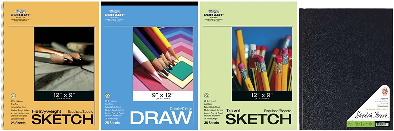 Pro Art Drawing and Sketching Paper Value Pack, Hard Bound Pad 0205-VP