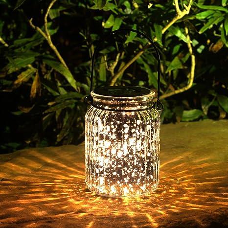 Amazon voona 2 pack solar mercury glass jar hanging outdoor voona 2 pack solar mercury glass jar hanging outdoor light for garden decorations outdoor decor aloadofball Image collections