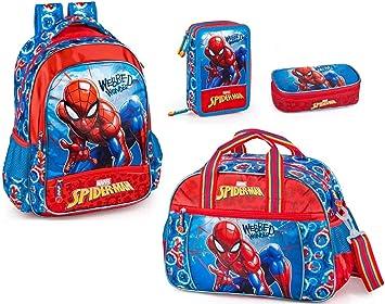 Marvel Spiderman Mochila, bolsa de deporte, estuche y estuche para niños, mochila escolar, bolsa de entrenamiento, estuche de corbata, Spider-Man: Amazon.es: Equipaje