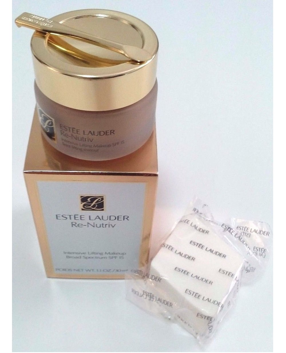 Estee Lauder Re-nutriv Intensive Lifting Makeup Broad Spectrum 15 Pale Almond 02