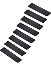 """MBIGM Pack of 8 Non-Slip Safety Step Tapes Wood Stair Treads Floor Track Sticker 80 Grit for Skateboard & Outdoor & Staircase, Black (6""""x24"""", Black)"""