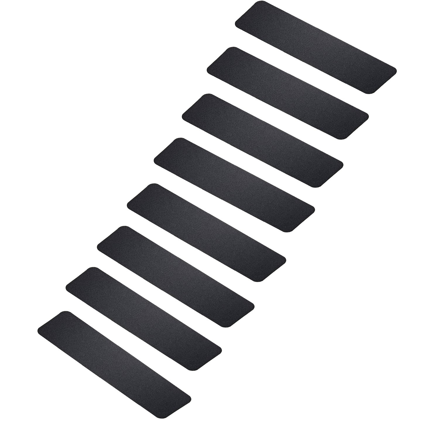 MBIGM Pack of 8 Non-Slip Safety Step Tapes Wood Stair Treads Floor Track Sticker 80 Grit for Skateboard & Outdoor & Staircase, Black (6''x24'', Black)