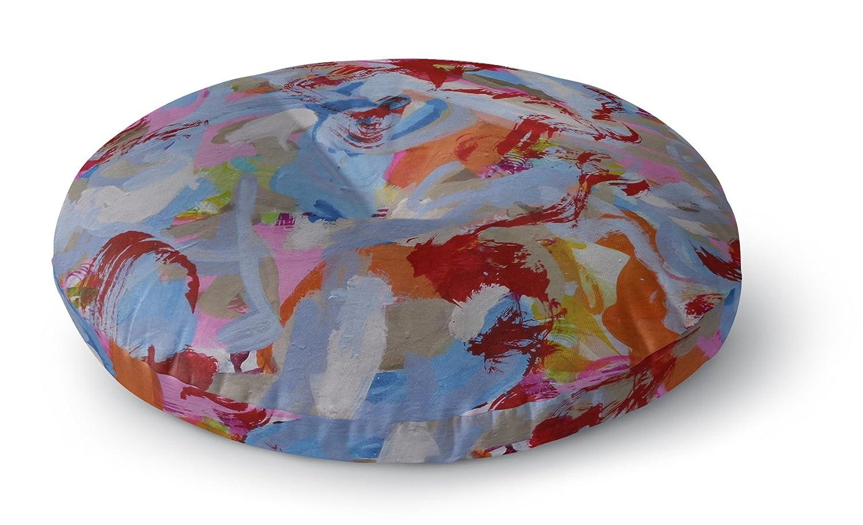 KAVKA Designs Third World Redneck Floor Pillow, - MOD Collection Size: 26x26x8 - Blue//Orange//Red//Pink//Grey SSKAVC3545FPR26