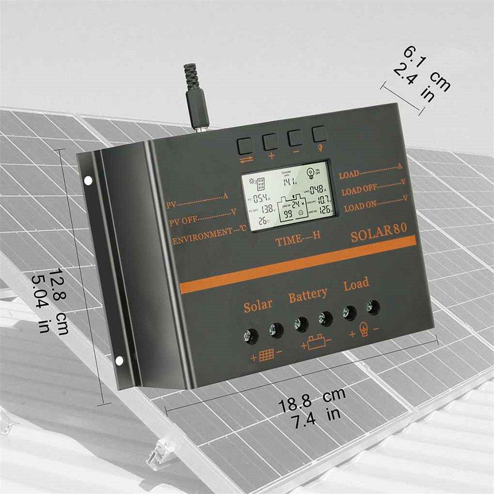 Display LCD Corrente 80A Regolatore di carica solare Pannello solare Regolatore di carica batteria Generazione di energia fotovoltaica