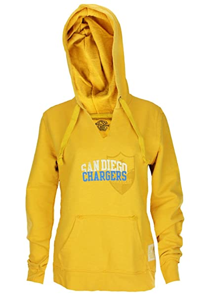 new arrivals 00a57 ff21d San Diego Chargers NFL Womens French Terry Slub Hoodie Pullover Hooded  Sweatshirt