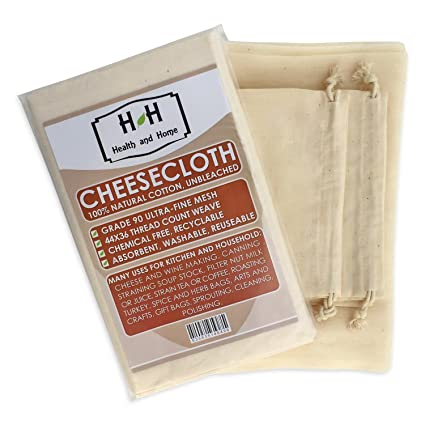 8ec4ef852a4 Cheesecloth - Ultra-Fine Grade 90 Unbleached 100% Natural Cotton – Cooking,  Nut