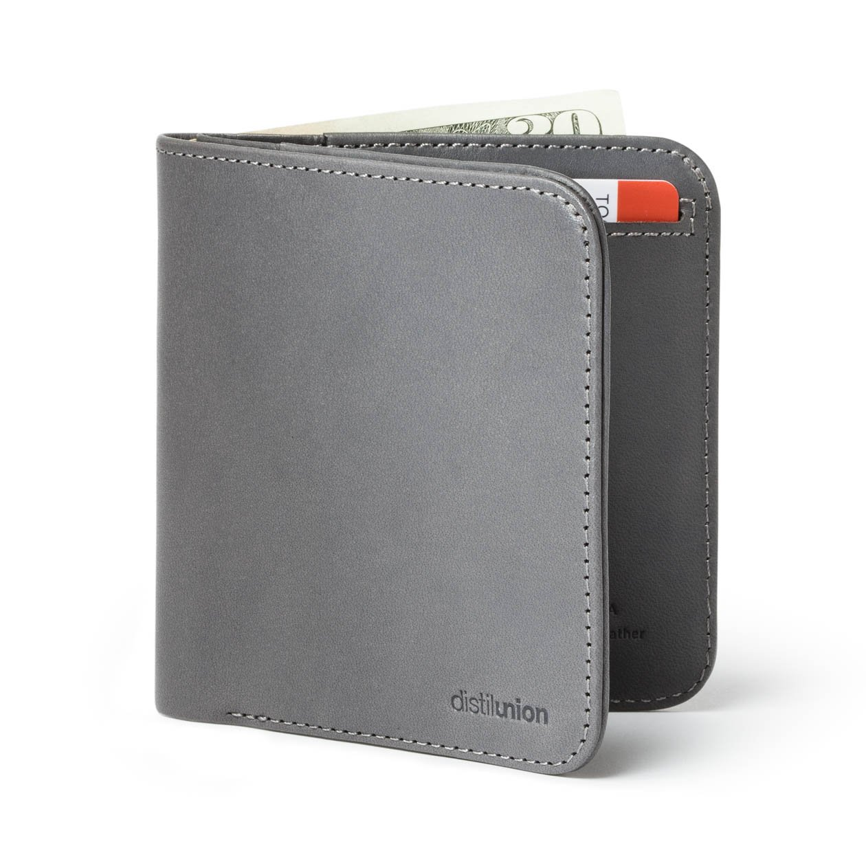Distil Union/Wally Agent[ウォリーエージェント] メンズ 二つ折りスリム財布 お札入れ&カードホルダー B01N8Q1WMH スレート スレート