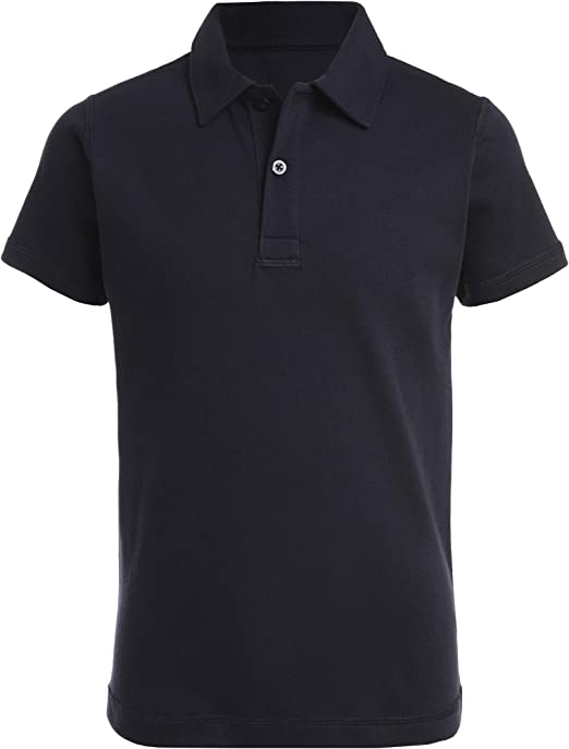Nautica Boys Big School Uniform Sensory-Friendly Short Sleeve Performance Polo