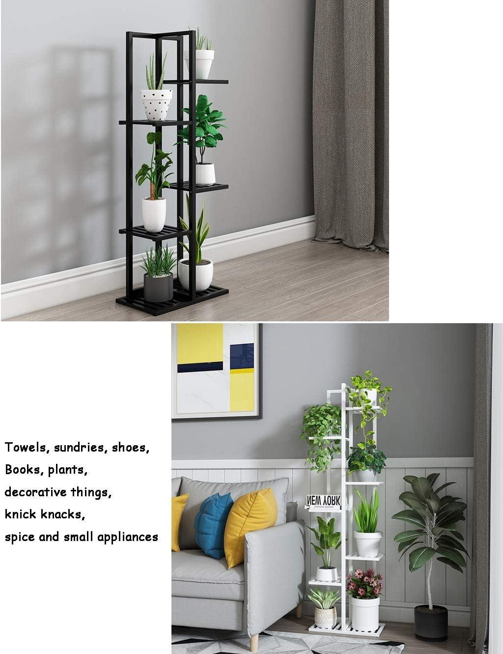 m 7 Nivel Planta de bamb/ú soporte Widen 8 maceta Tiesto soporte de exhibici/ón del estante de cubierta del invernadero del jard/ín al aire libre Patio Natural 15.7 x55.9 x7.8 Soporte para plantas