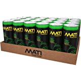 MATI | Natural Healthy Energy Drink | 40 Calorie Option | Peach Mango | 24 Pack