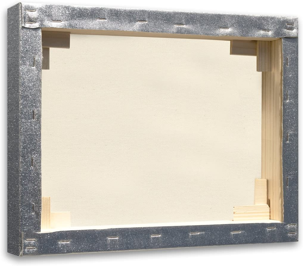 70/x 50/x 3.5/cm Fir Wood Art /& Art 7834.0/Frame with Canvas for Painters silver