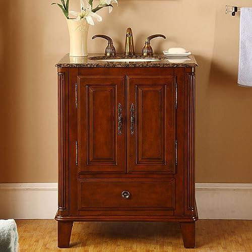 Silkroad Exclusive Single Sink Bathroom Vanity