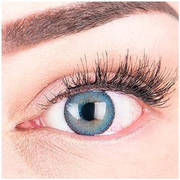 """Sehr stark deckende und natürliche blaue Kontaktlinsen SILIKON COMFORT NEUHEIT farbig """"Mirel Blue"""" + Behälter von GLAMLENS -"""
