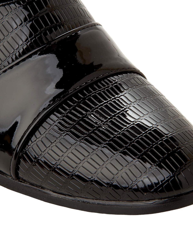 b0d6c5d8e79 Mens Black Patent Smart Italian Dress Cuban Heel Boots Gents Formal Shoes  Size (6 UK)  Amazon.co.uk  Shoes   Bags