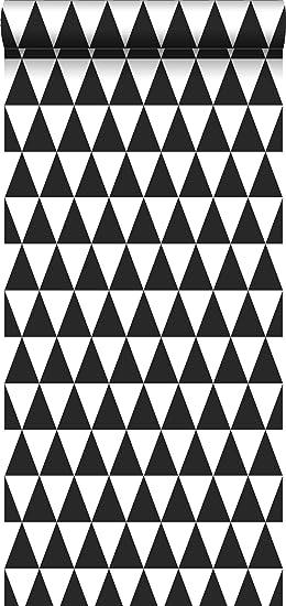 Papier Peint Intisse Impression A La Craie Triangle Geometrique
