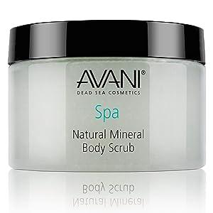AVANI Classics Natural Mineral Body Scrub   Enriched with Dead Sea Minerals, Jojoba Oil, & Vitamin E   Gently Exfoliates & Moisturizes Skin   Pear and Apple - 14.08 oz.