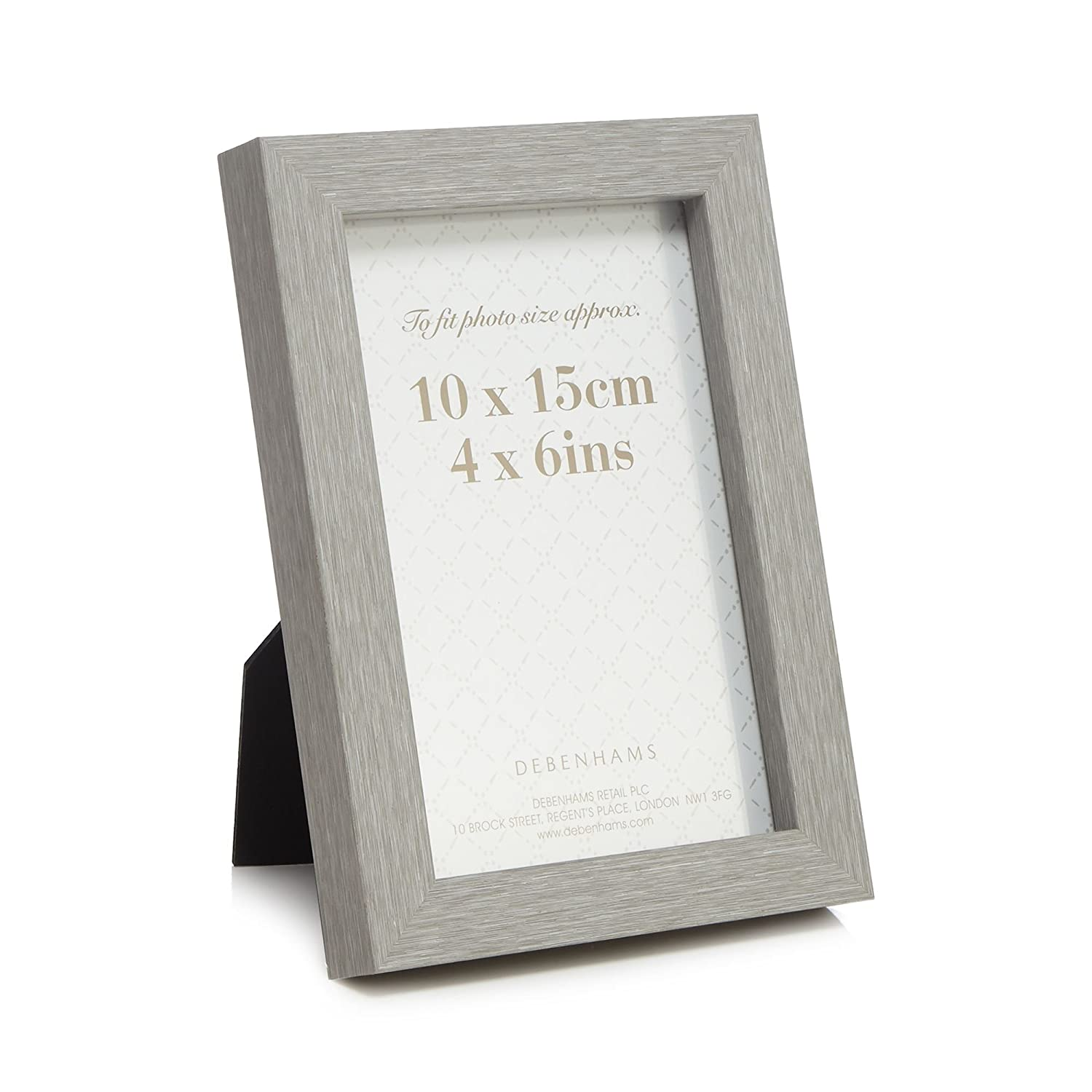 61003e563a Debenhams Home Collection Grey Wood Effect Photo Frame: Home Collection:  Amazon.co.uk: Kitchen & Home