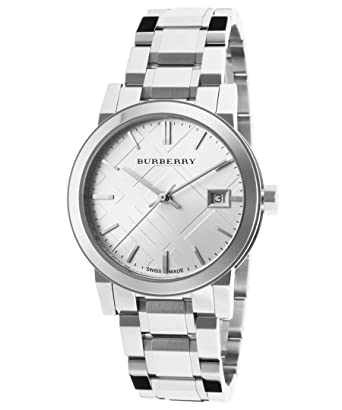 6788dcdb56b Amazon.com  Burberry Women s BU9100 Large Check Stainless Steel Bracelet  Watch  Burberry  Watches