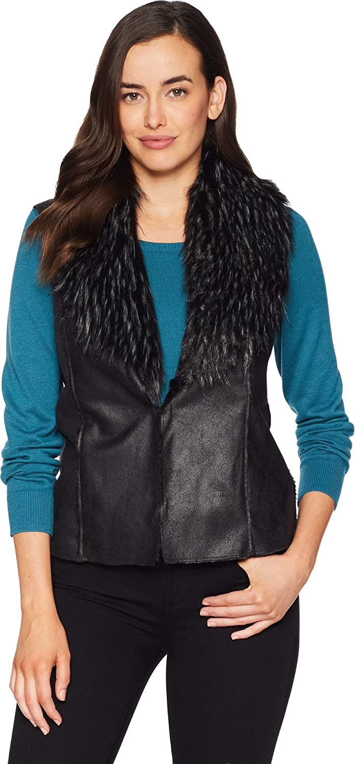 Coal FDJ French Dressing Jeans Womens Faux Suede Fur Collar Vest