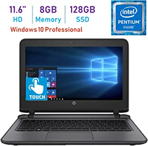 HP Business ProBook 11.6-inch HD WLED Touchscreen Laptop PC (Intel Pentium 4405U 2.10GHz Processor, 8GB DDR4, 128GB SSD, HDMI, Webcam, WiFi, Bluetooth 4.2, Up to 13 hrs Battery, Windows 10 Pro)