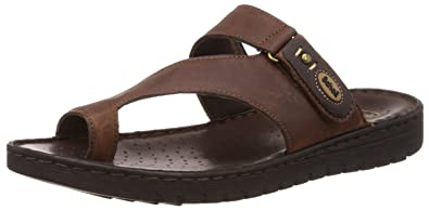 f59b0ceaf9b86b Scholl Men s Sung Toe Ring Brown Leather Hawaii Thong Sandals - 6 UK ...