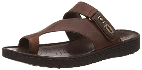 9313b3263e92 Scholl Men s Sung Toe Ring Brown Leather Hawaii Thong Sandals - 6 UK ...