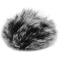 Cucudy Microfone de lapela com clip de para-brisa Protetor de microfone para pára-brisa peludo Compatível com M1 e…