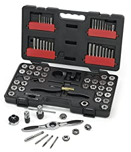 1. GearWrench 3887 Tap and Die 75 Piece Set - Combination SAE / Metric