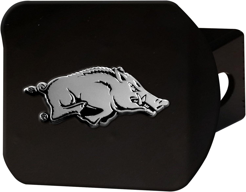 University of Arkansas Black Metal Hitch Cover