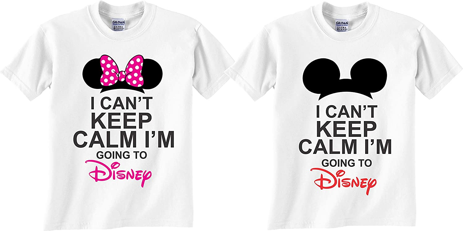 Men Can/'t Keep calm going to Disney Holiday America  T-Shirt Personalised