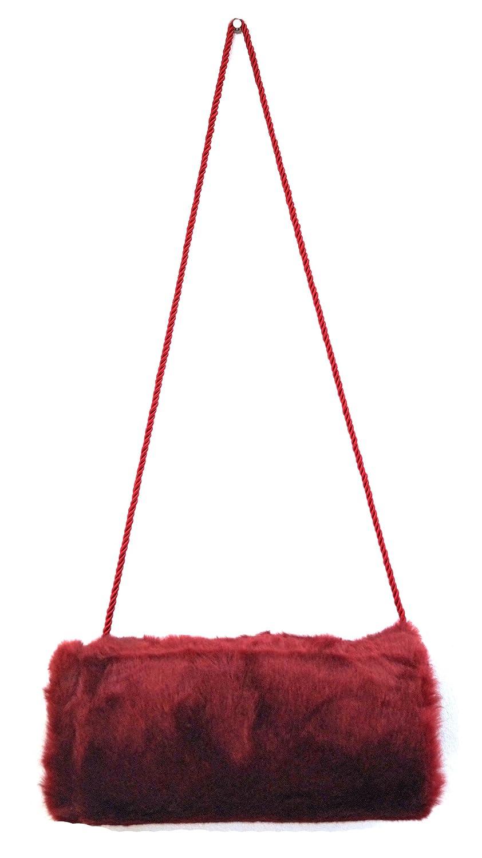 Muff Pelzmuff Nerzoptik Handschuh Handwärmer Pelz Webpelz zum umhängen Farbe:Beige